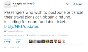 Twitter   MAS  Passengers who wish to postpone ...