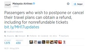 Twitter   MAS  Passengers who wish to postpone ...